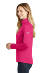 The North Face NF0A3LHC Womens Tech 1/4 Zip Fleece Jacket Petticoat Pink Side
