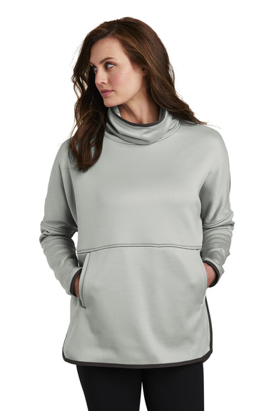 The North Face NF0A3SEF Womens Canyon Flats Fleece Poncho Sweatshirt Heather Grey Front