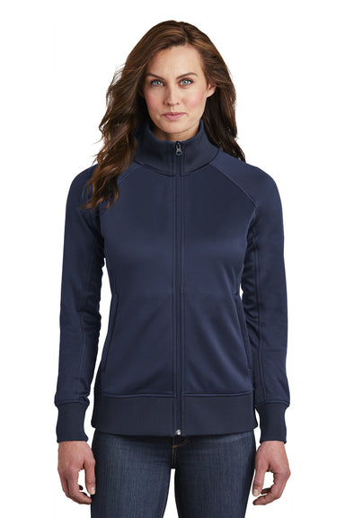 The North Face NF0A3SEV Womens Tech Full Zip Fleece Jacket Navy Blue Front