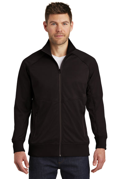 The North Face NF0A3SEW Mens Tech Full Zip Fleece Jacket Black Front
