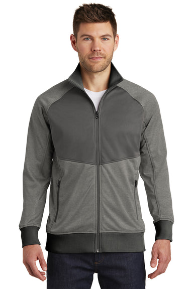The North Face NF0A3SEW Mens Tech Full Zip Fleece Jacket Heather Grey/Asphalt Grey Front