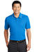 Nike NKAA1849 Mens Edge Dri-Fit Moisture Wicking Short Sleeve Polo Shirt Sapphire Blue Front