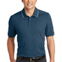 Nike Mens Edge Dri-Fit Moisture Wicking Short Sleeve Polo Shirt - Navy Blue