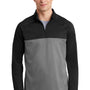 Nike Mens Therma-Fit Moisture Wicking Fleece 1/4 Zip Sweatshirt - Black/Heather Grey