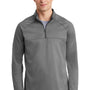 Nike Mens Therma-Fit Moisture Wicking Fleece 1/4 Zip Sweatshirt - Heather Grey