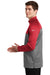 Nike NKAH6254 Mens Therma-Fit Moisture Wicking Fleece 1/4 Zip Sweatshirt Red/Heather Grey Side