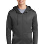 Nike Mens Therma-Fit Fleece Full Zip Hooded Sweatshirt Hoodie - Anthracite Grey