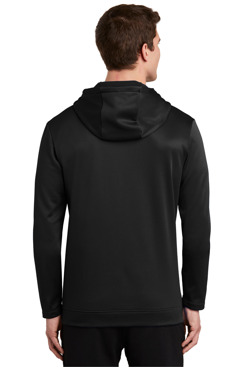 Nike NKAH6259 Mens Therma-Fit Fleece Full Zip Hooded Sweatshirt Hoodie Black Back