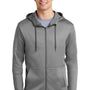 Nike Mens Therma-Fit Fleece Full Zip Hooded Sweatshirt Hoodie - Heather Dark Grey