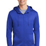 Nike Mens Therma-Fit Fleece Full Zip Hooded Sweatshirt Hoodie - Game Royal Blue