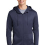 Nike Mens Therma-Fit Fleece Full Zip Hooded Sweatshirt Hoodie - Midnight Navy Blue