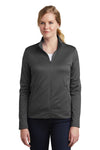 Nike NKAH6260 Womens Therma-Fit Moisture Wicking Fleece Full Zip Sweatshirt Anthracite Grey Front