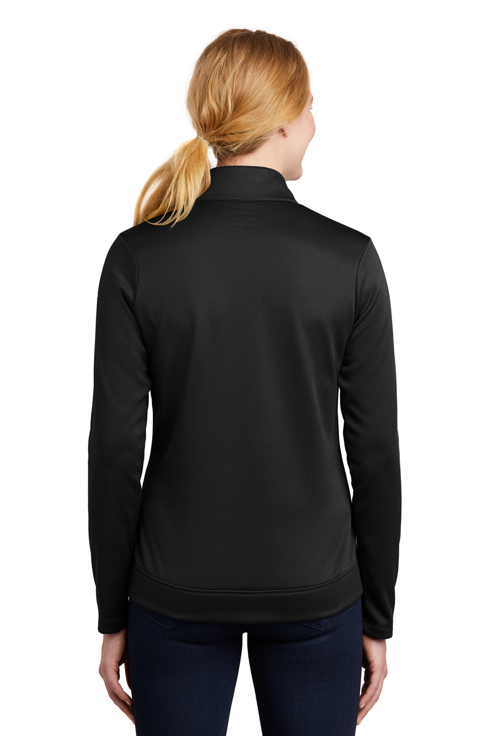Nike NKAH6260 Womens Therma-Fit Moisture Wicking Fleece Full Zip Sweatshirt Black Back