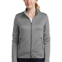 Nike Womens Therma-Fit Moisture Wicking Fleece Full Zip Sweatshirt - Heather Dark Grey
