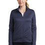 Nike Womens Therma-Fit Moisture Wicking Fleece Full Zip Sweatshirt - Midnight Navy Blue