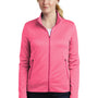 Nike Womens Therma-Fit Moisture Wicking Fleece Full Zip Sweatshirt - Heather Vivid Pink