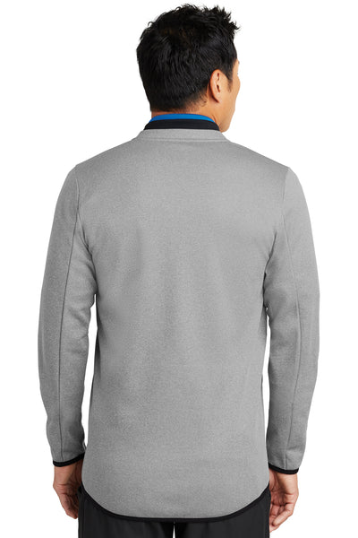 Nike NKAH6267 Mens Therma-Fit Moisture Wicking Fleece 1/4 Zip Sweatshirt Grey Back