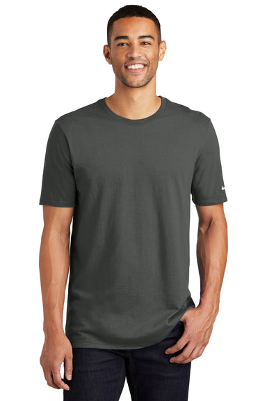 Nike NKBQ5233 Mens Core Short Sleeve Crewneck T-Shirt Anthracite Grey Front