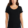 Nike Womens Dri-Fit Moisture Wicking Short Sleeve Scoop Neck T-Shirt - Black