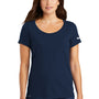Nike Womens Dri-Fit Moisture Wicking Short Sleeve Scoop Neck T-Shirt - College Navy Blue