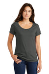 Nike NKBQ5236 Womens Core Short Sleeve Scoop Neck T-Shirt Anthracite Grey Front