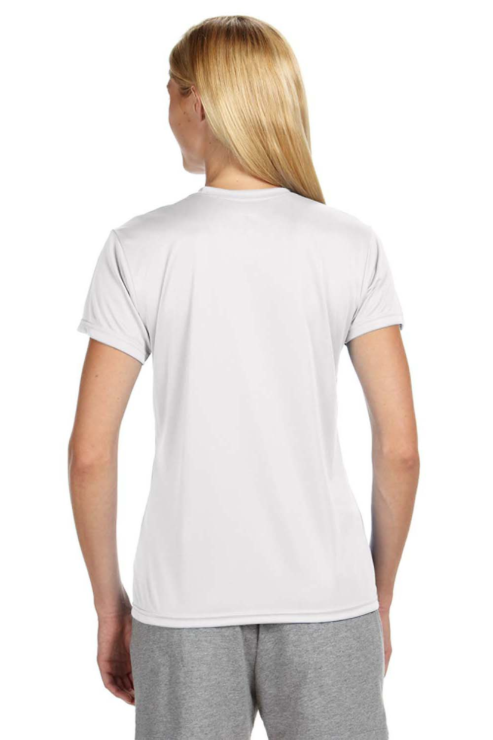A4 NW3201 Womens Cooling Performance Moisture Wicking Short Sleeve Crewneck T-Shirt White Back