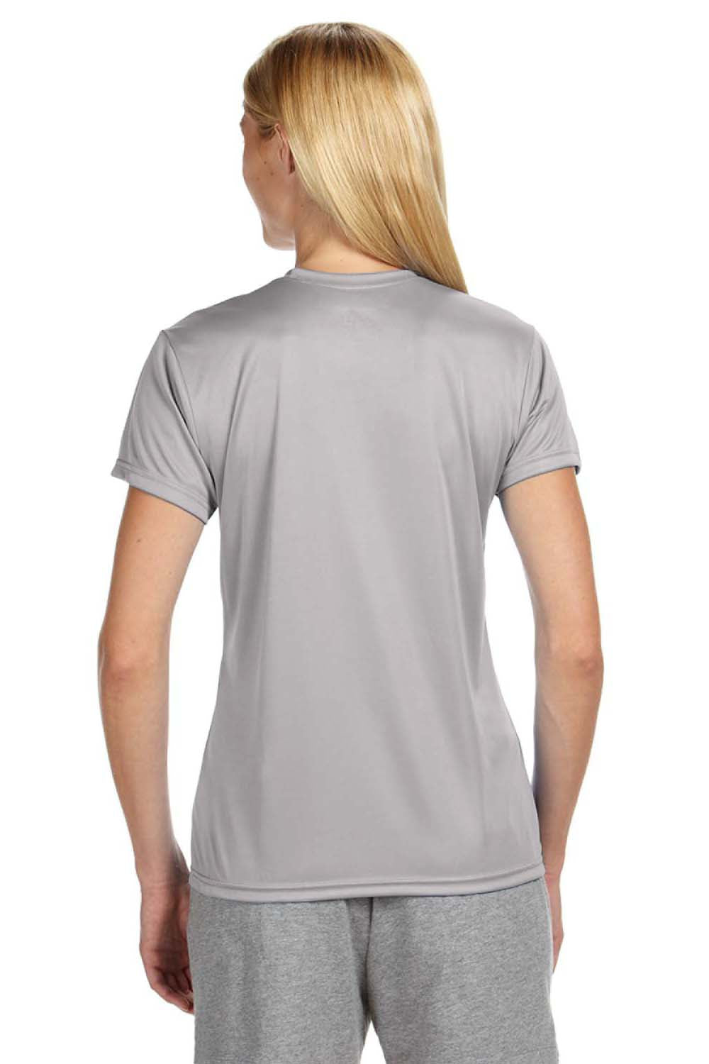 A4 NW3201 Womens Cooling Performance Moisture Wicking Short Sleeve Crewneck T-Shirt Silver Grey Back