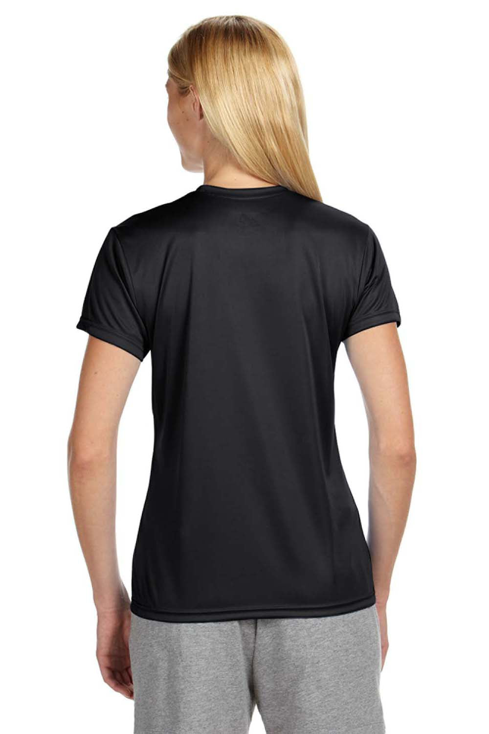 A4 NW3201 Womens Cooling Performance Moisture Wicking Short Sleeve Crewneck T-Shirt Black Back