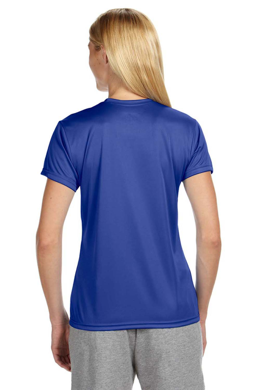 A4 NW3201 Womens Cooling Performance Moisture Wicking Short Sleeve Crewneck T-Shirt Royal Blue Back