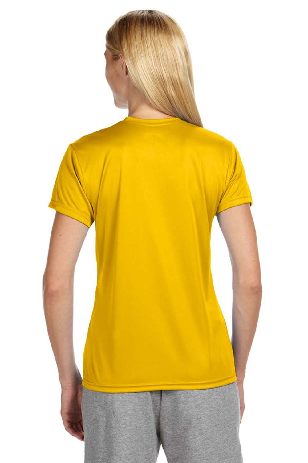 A4 NW3201 Womens Cooling Performance Moisture Wicking Short Sleeve Crewneck T-Shirt Gold Back