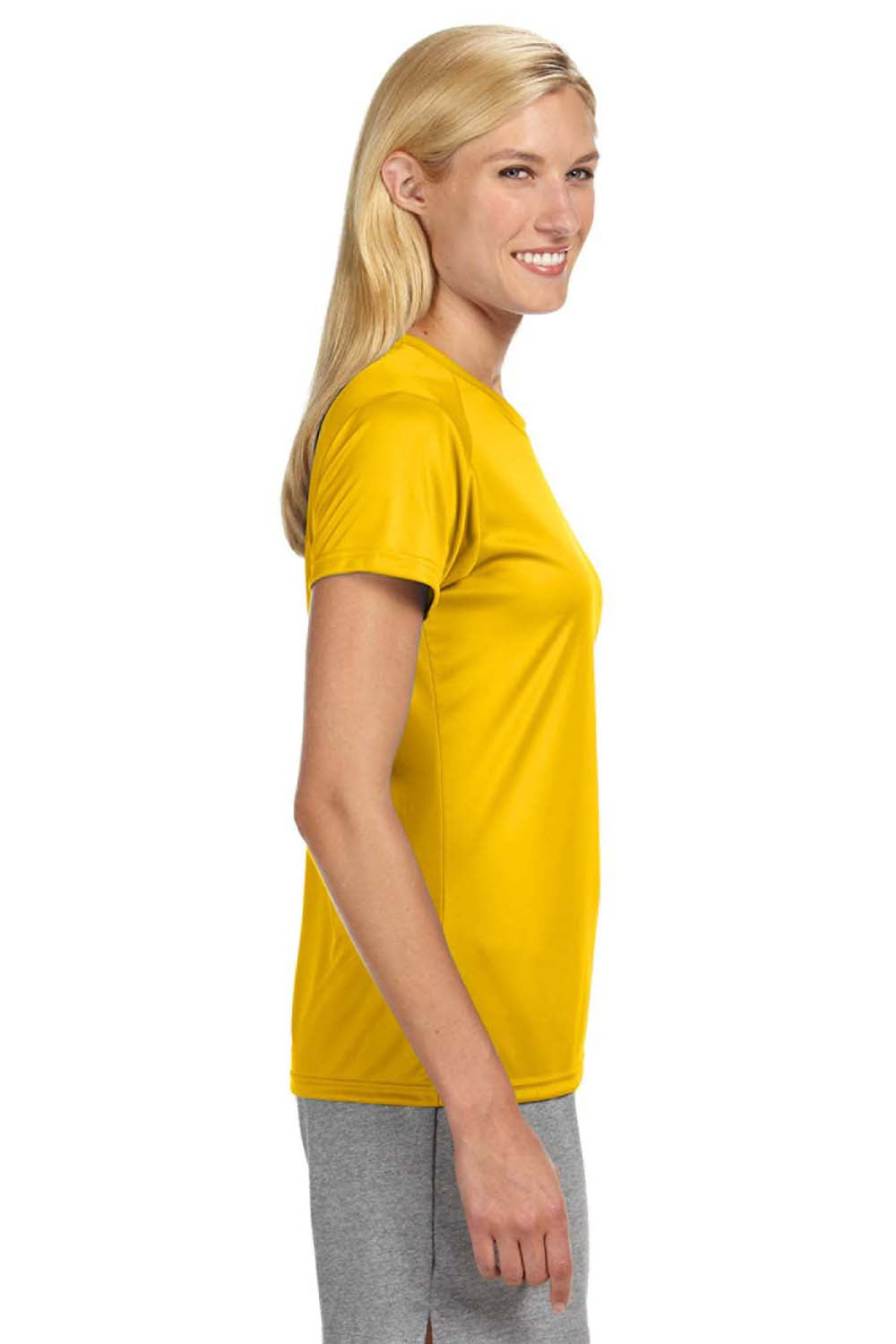 A4 NW3201 Womens Cooling Performance Moisture Wicking Short Sleeve Crewneck T-Shirt Gold Side