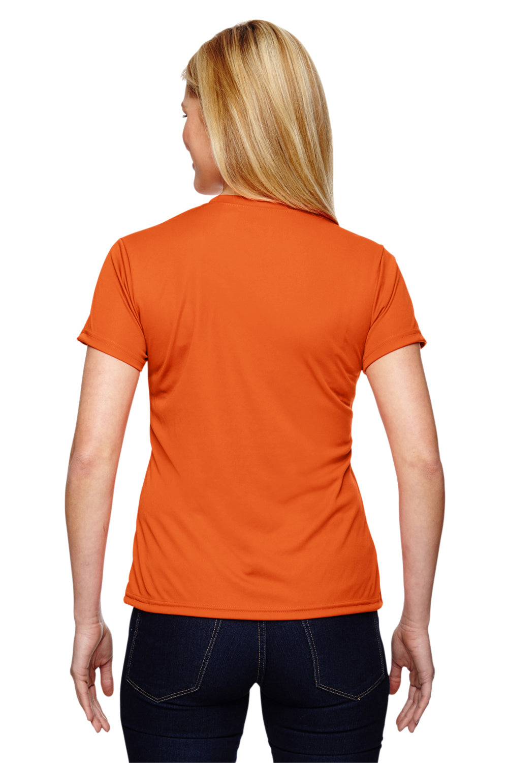 A4 NW3201 Womens Cooling Performance Moisture Wicking Short Sleeve Crewneck T-Shirt Orange Back