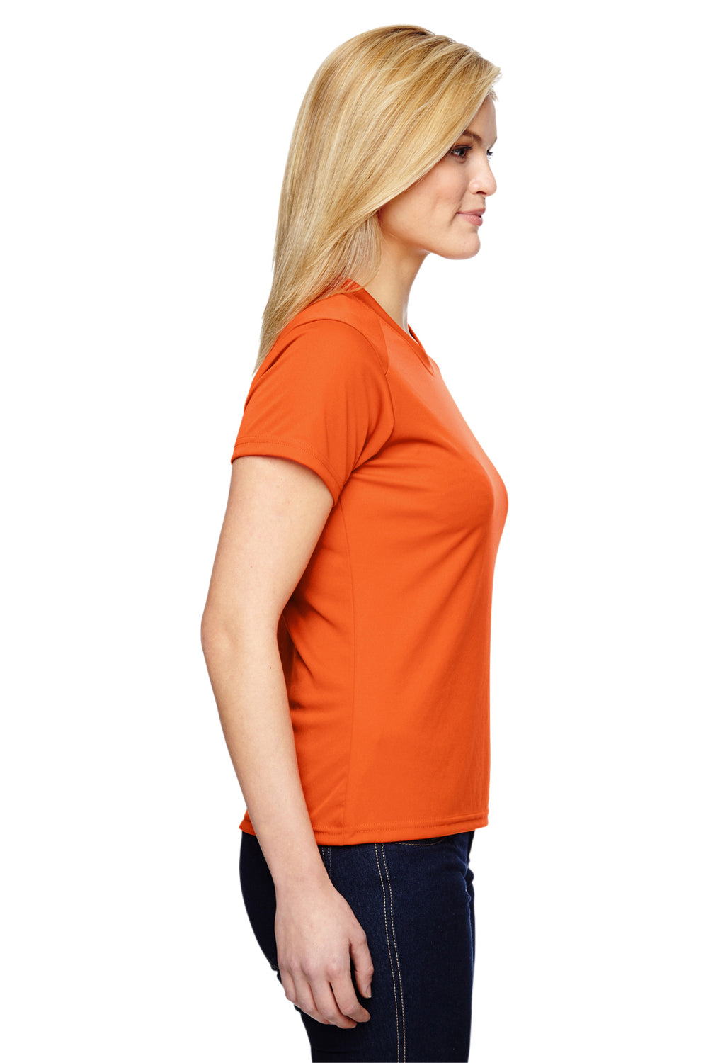 A4 NW3201 Womens Cooling Performance Moisture Wicking Short Sleeve Crewneck T-Shirt Orange Side