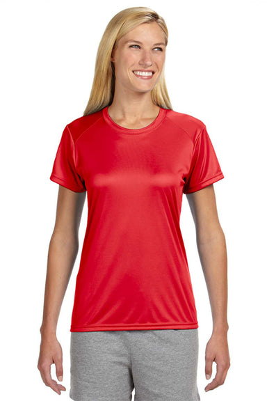 A4 NW3201 Womens Cooling Performance Moisture Wicking Short Sleeve Crewneck T-Shirt Red Front