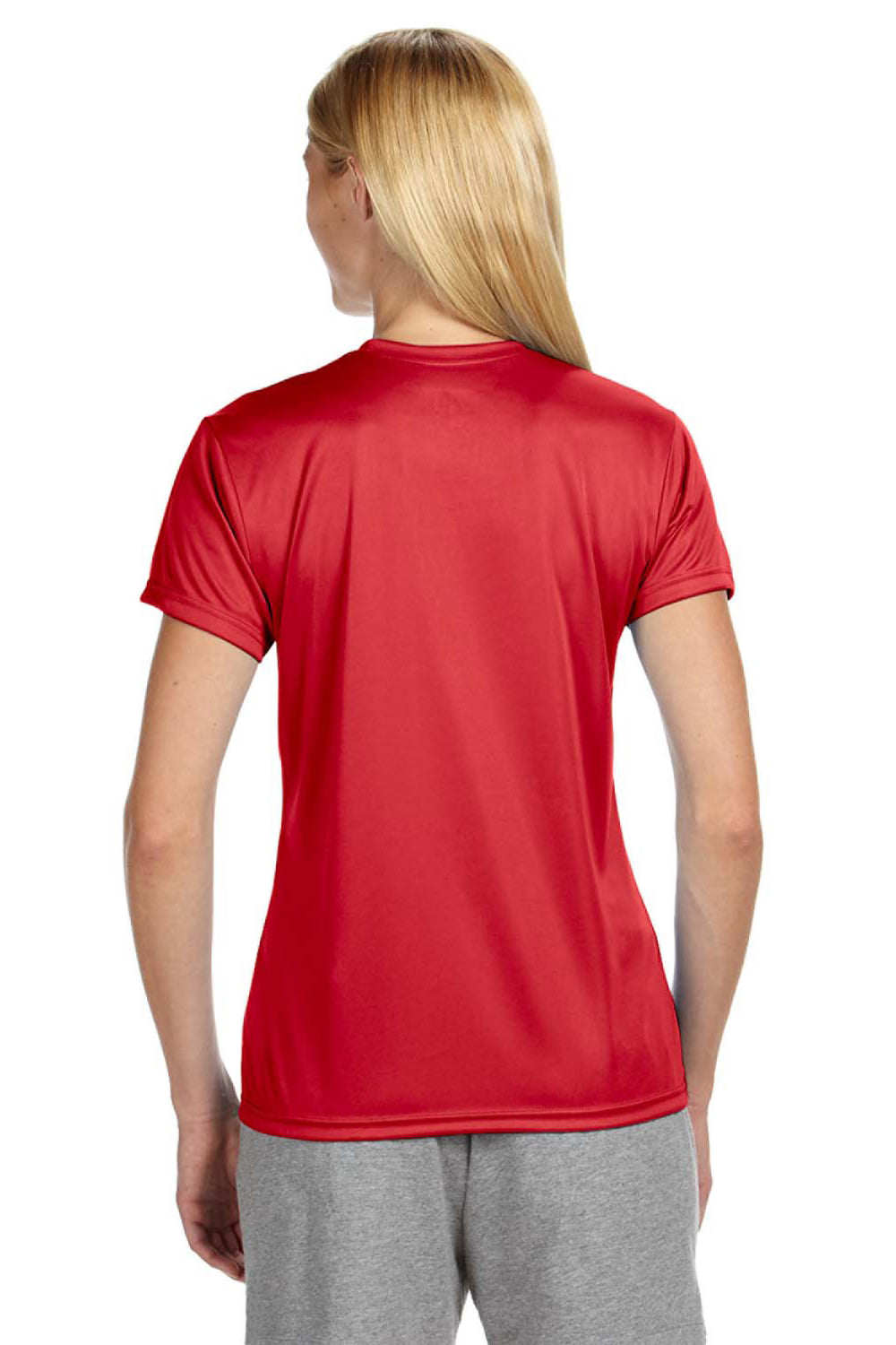 A4 NW3201 Womens Cooling Performance Moisture Wicking Short Sleeve Crewneck T-Shirt Red Back
