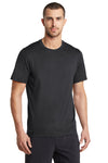 Ogio OE320 Mens Endurance Pulse Jersey Moisture Wicking Short Sleeve Crewneck T-Shirt Black Front