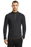 Ogio OE335 Mens Endurance Nexus Moisture Wicking 1/4 Zip Sweatshirt Black Front