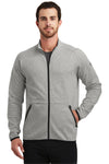 Ogio OE503 Mens Endurance Origin Moisture Wicking Full Zip Jacket Aluminum Grey Front