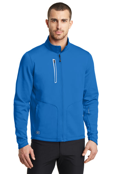 Ogio OE700 Mens Endurance Fulcrum Full Zip Jacket Electric Blue Front