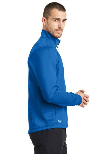 Ogio OE700 Mens Endurance Fulcrum Full Zip Jacket Electric Blue Side