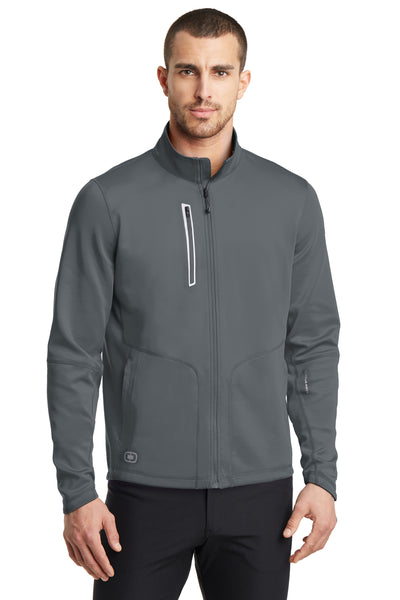 Ogio OE700 Mens Endurance Fulcrum Full Zip Jacket Gear Grey Front