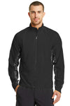 Ogio OE710 Mens Endurance Trainer Wind & Water Resistant Full Zip Jacket Black Front