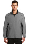 Ogio OE711 Mens Endurance Flash Wind & Water Resistant Full Zip Jacket Reflective Grey Front