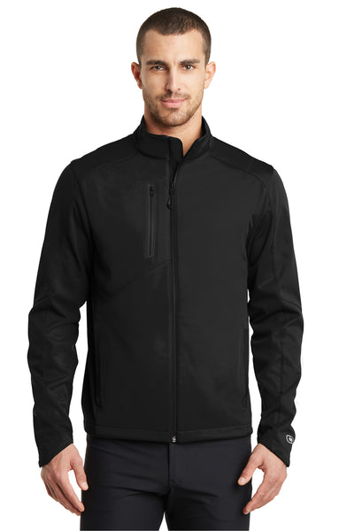 Ogio OE720 Mens Endurance Crux Wind & Water Resistant Full Zip Jacket Black Front