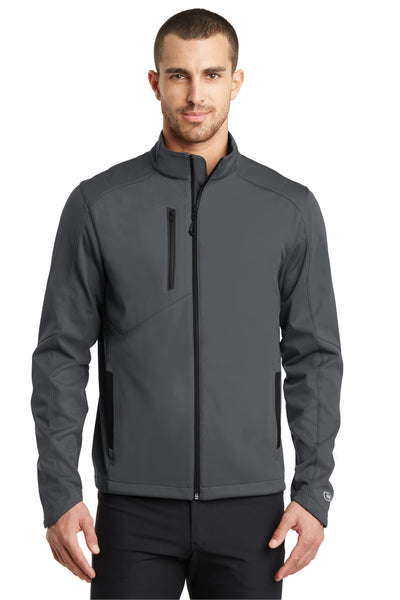 Ogio OE720 Mens Endurance Crux Wind & Water Resistant Full Zip Jacket Gear Grey Front