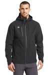 Ogio OE750 Mens Endurance Impact Waterproof Full Zip Hooded Jacket Black Front
