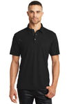 Ogio OG102 Mens Accelerator Moisture Wicking Short Sleeve Polo Shirt w/ Pocket Black Front