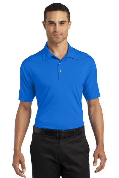 Ogio OG1030 Mens Linear Moisture Wicking Short Sleeve Polo Shirt Electric Blue Front