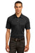 Ogio OG110 Mens Optic Moisture Wicking Short Sleeve Polo Shirt Black Front