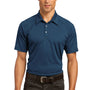 Ogio Mens Optic Moisture Wicking Short Sleeve Polo Shirt - Indigo Blue